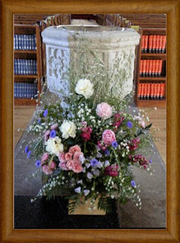 Font with Flowers